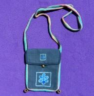 Embroidered Flower Passport Bag