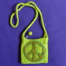 Peace Sign Felt Purse